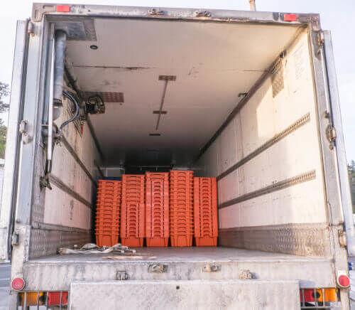 Inside of a reefer truck